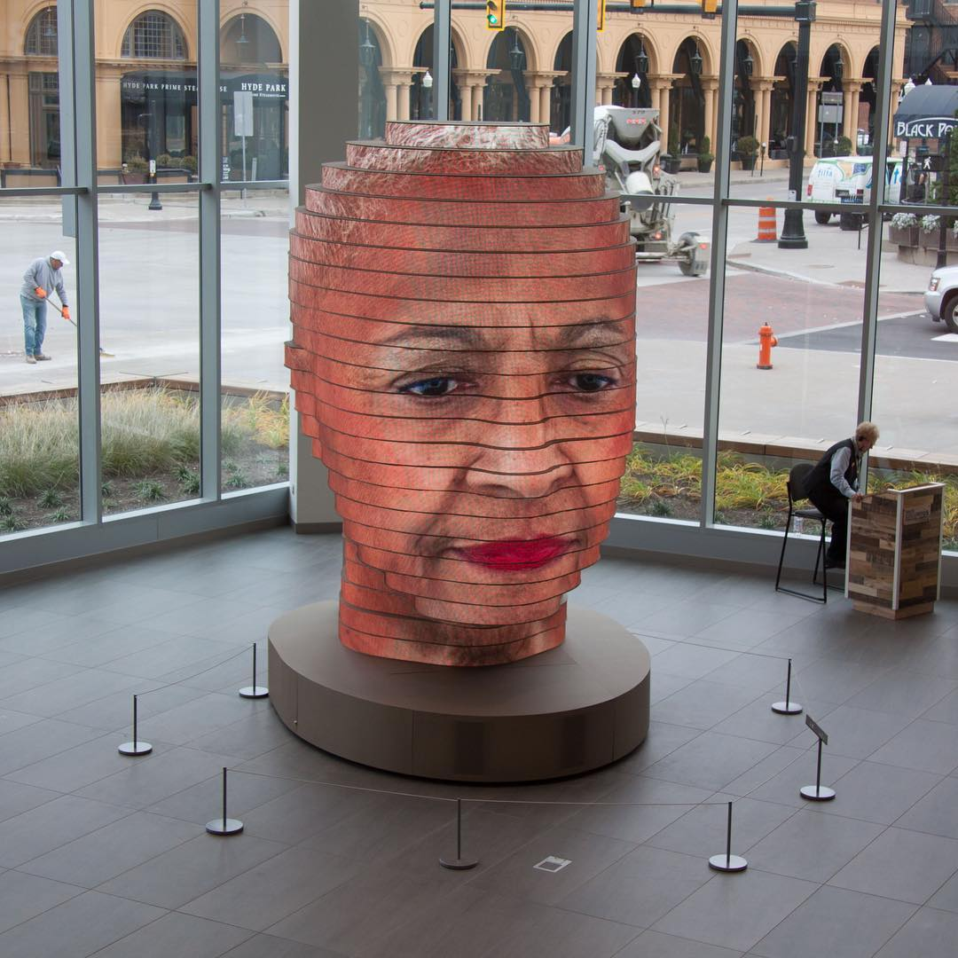 This 14 Foot Tall Sculpture Becomes Your Face